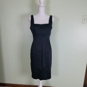 Calvin Klein satin little black dress 8
